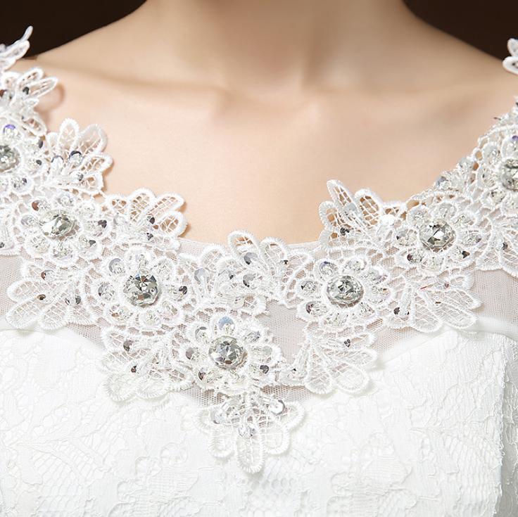Svadobné šaty skladom - EU48/50 - Obrázok č. 3
