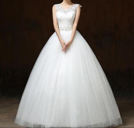 Svadobné šaty skladom - EU48/50 - Obrázok č. 4