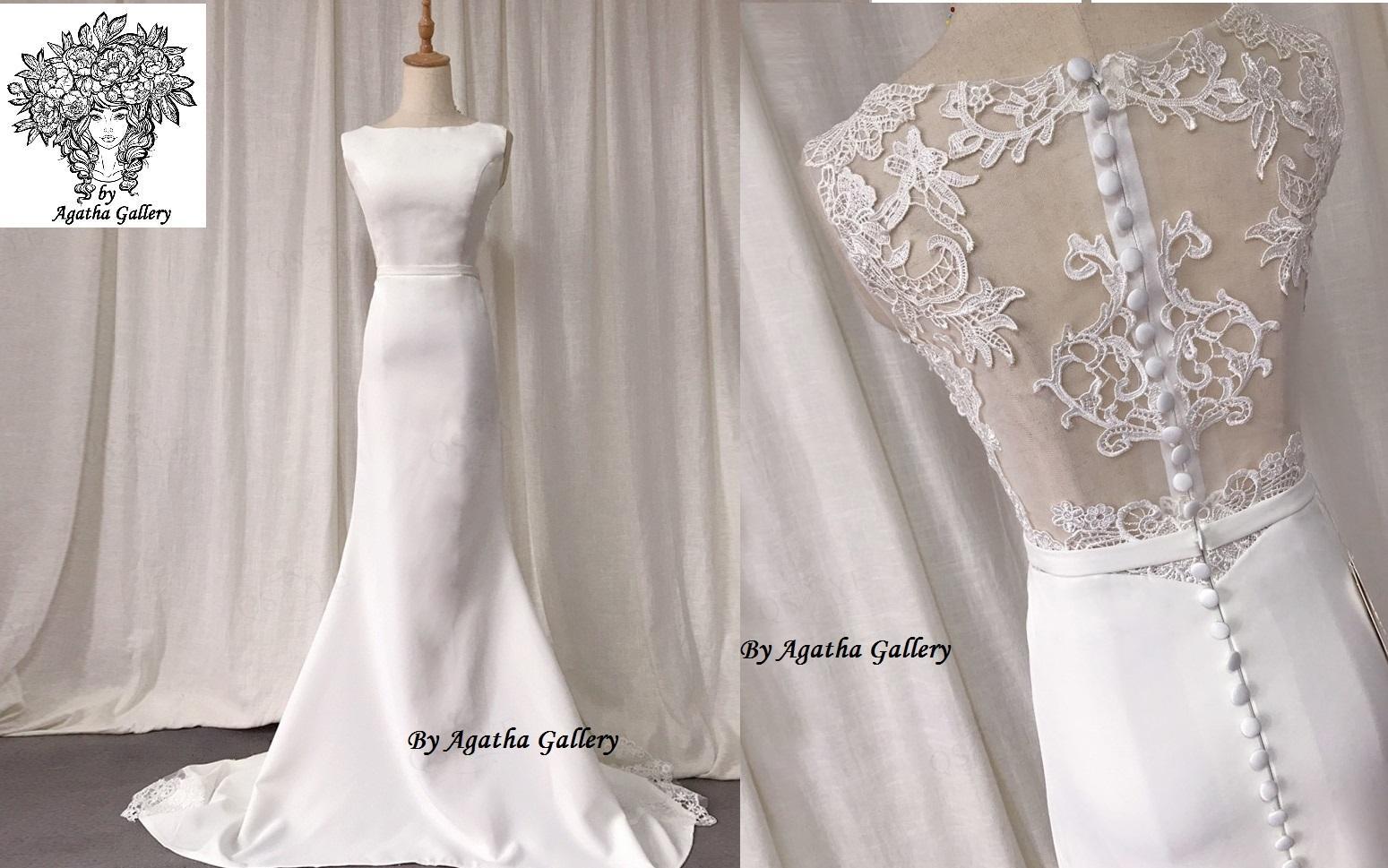 Dlhé svadobné šaty - EU 40/42 - Obrázok č. 1