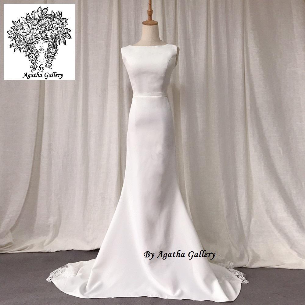 Dlhé svadobné šaty - EU 40/42 - Obrázok č. 2