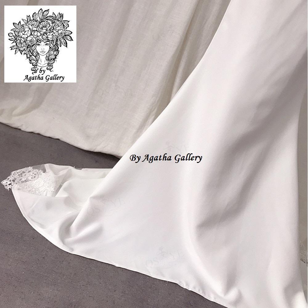 Dlhé svadobné šaty - EU 40/42 - Obrázok č. 3