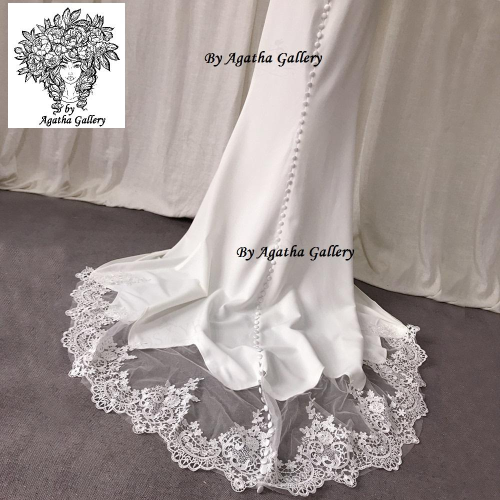 Dlhé svadobné šaty - EU 40/42 - Obrázok č. 4