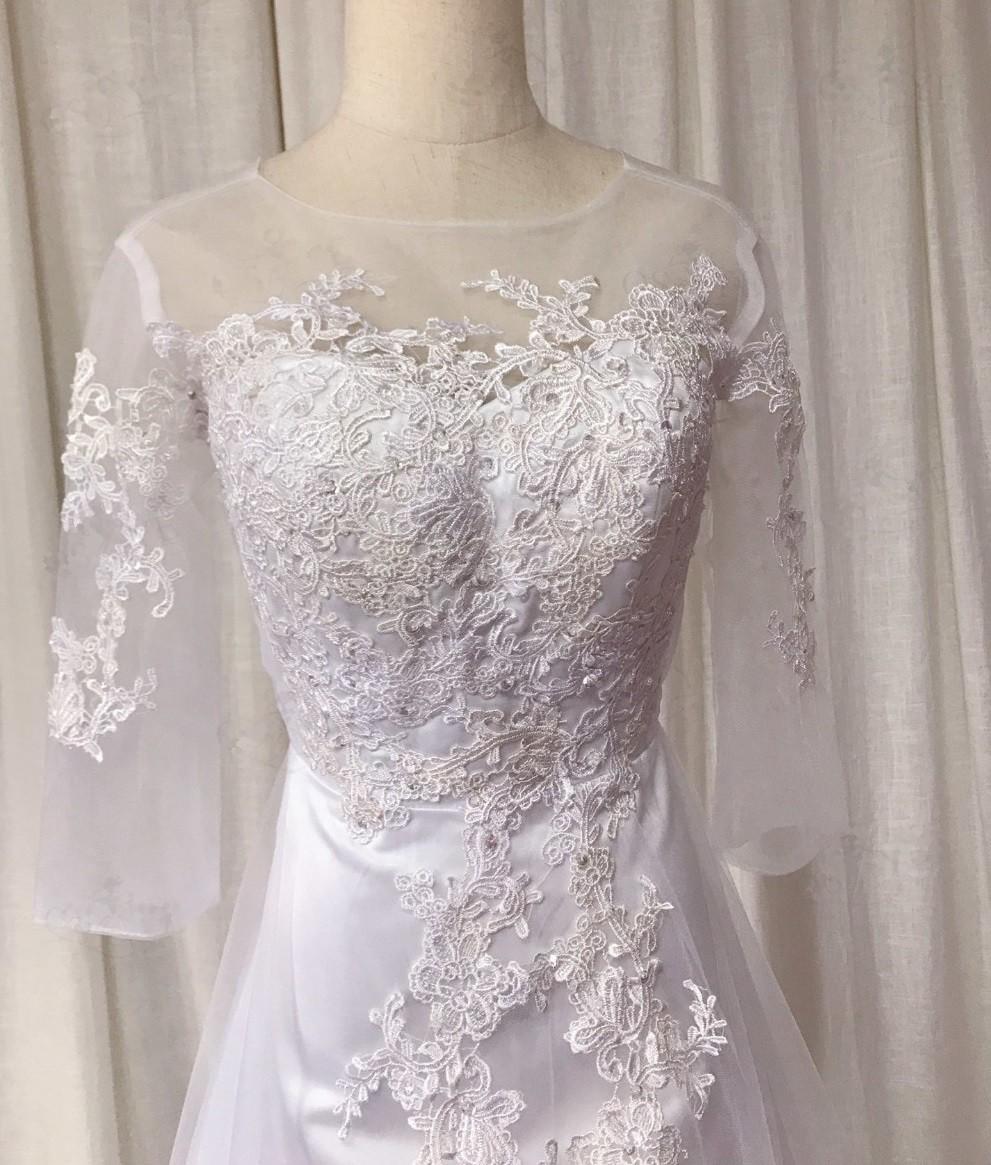 Svadobné šaty skladom - EU 34/36 - Obrázok č. 2