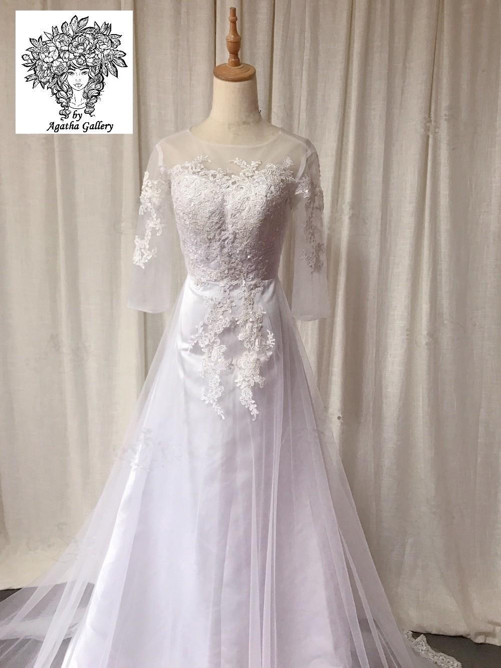 Svadobné šaty skladom - EU 34/36 - Obrázok č. 4