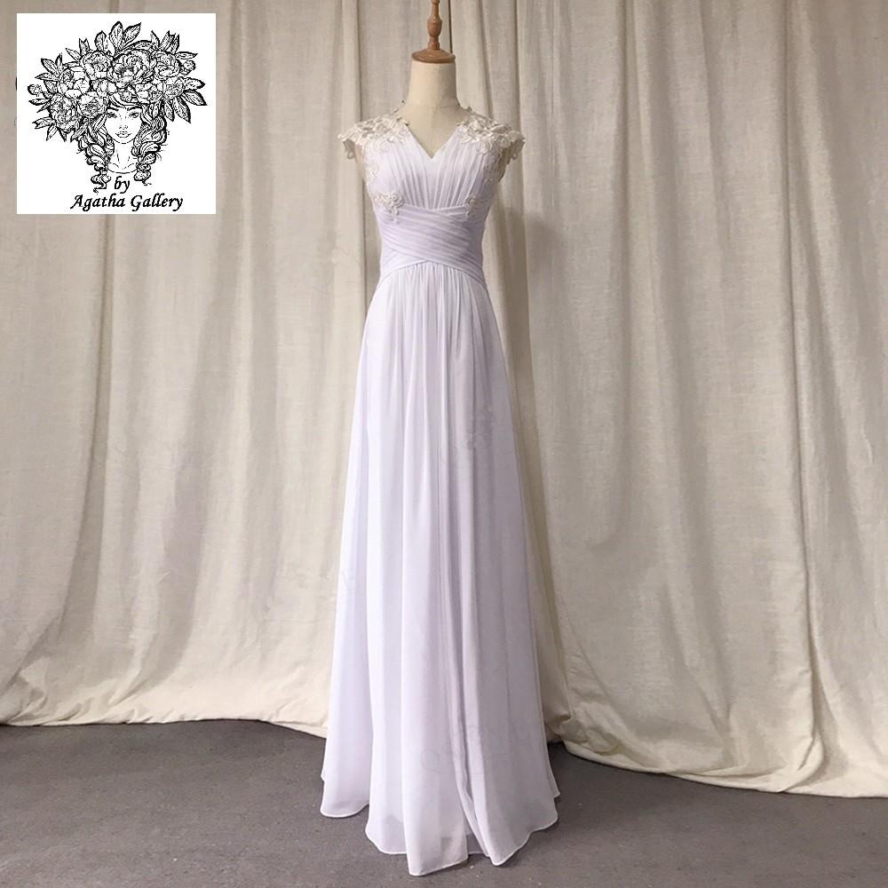 Svadobné šaty - EU 36/38 - skladom - Obrázok č. 1
