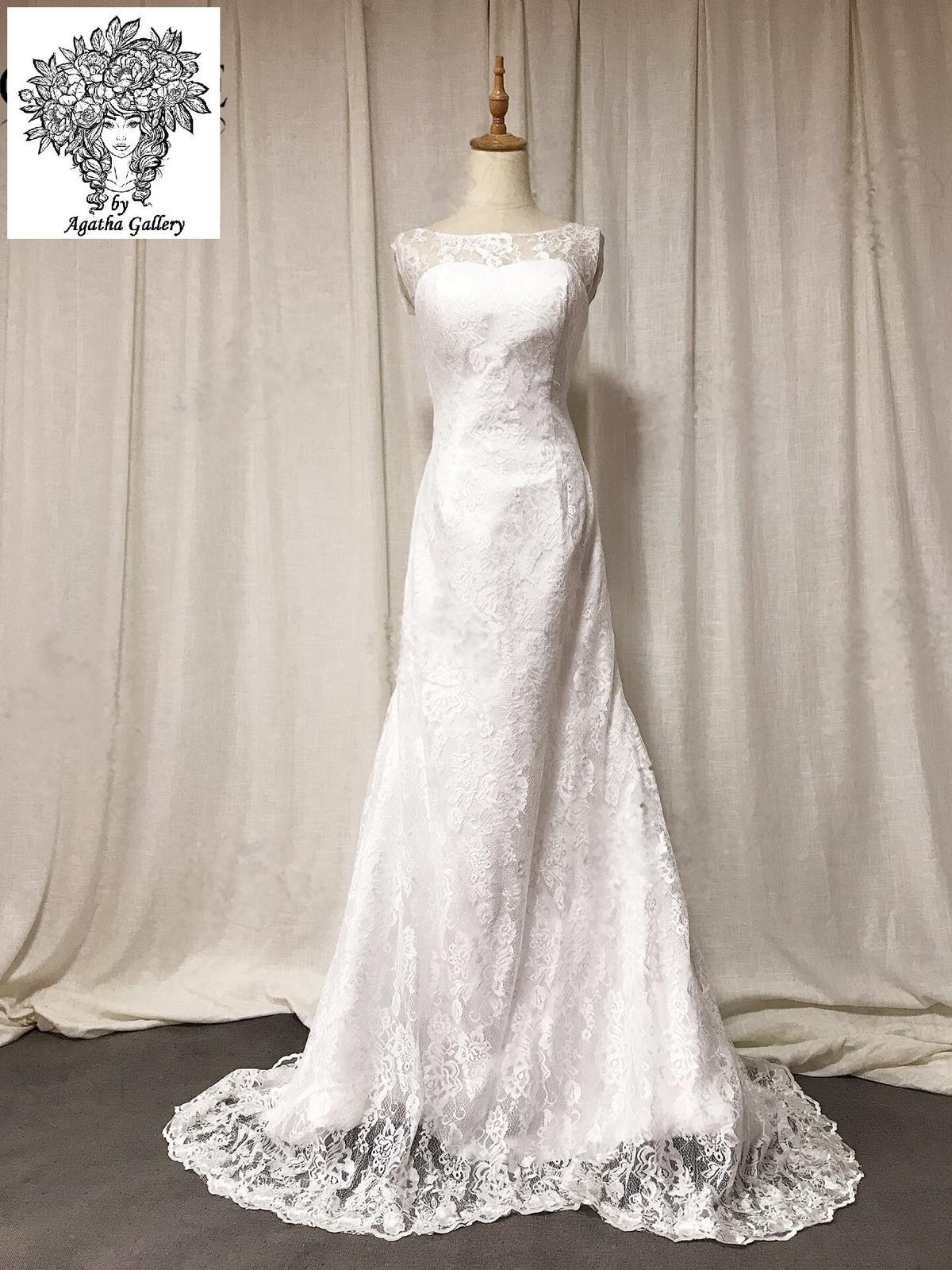 Svadobné šaty skladom - EU36/38 - Obrázok č. 1