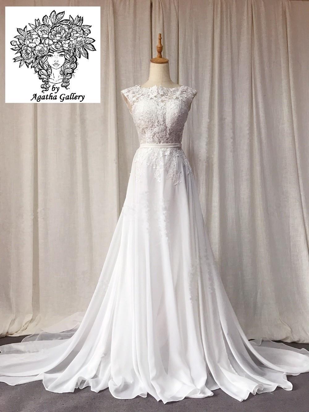 Dlhé svadobné šaty - EU 36/38 - Obrázok č. 1