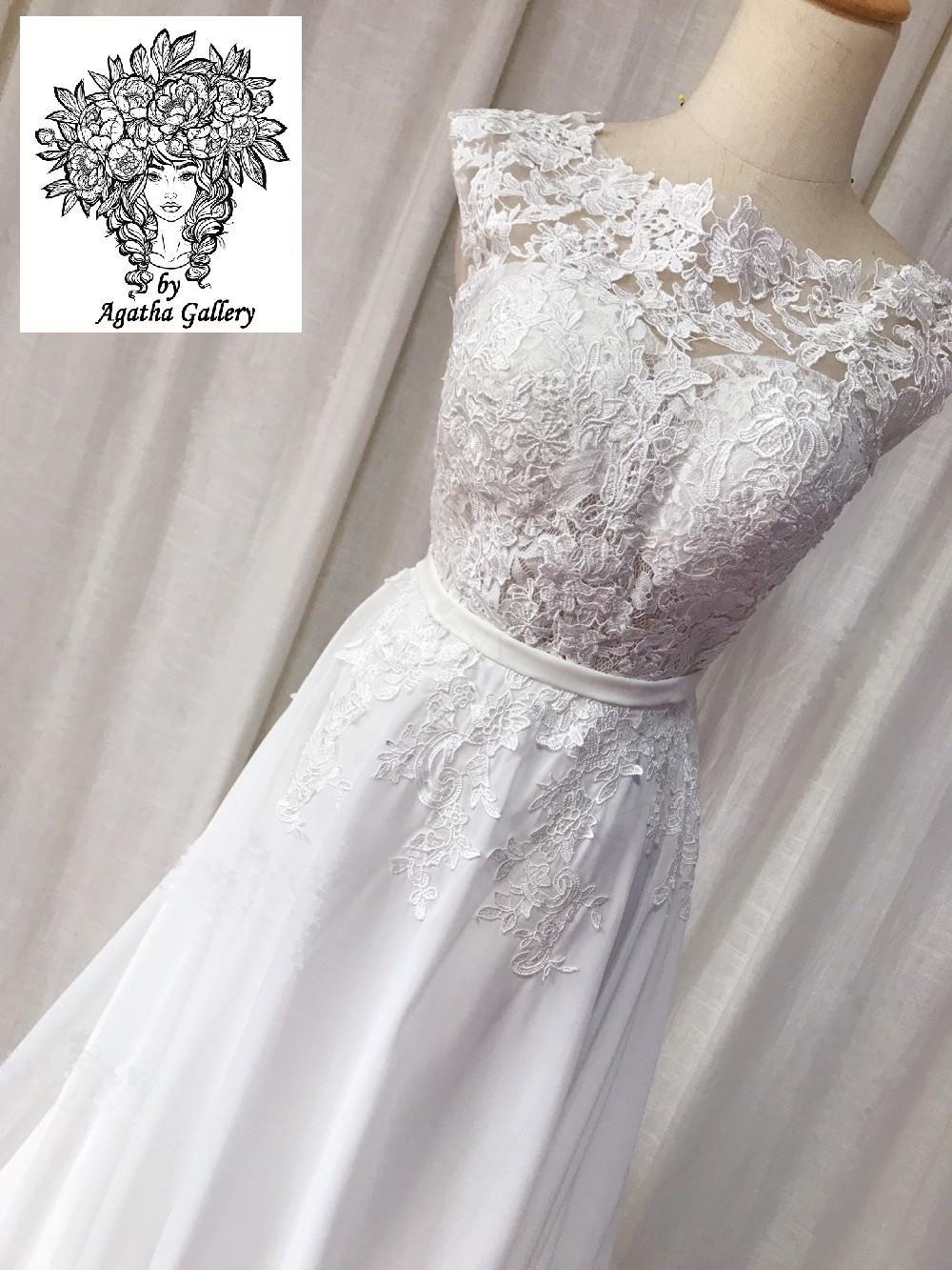 Dlhé svadobné šaty - EU 36/38 - Obrázok č. 2