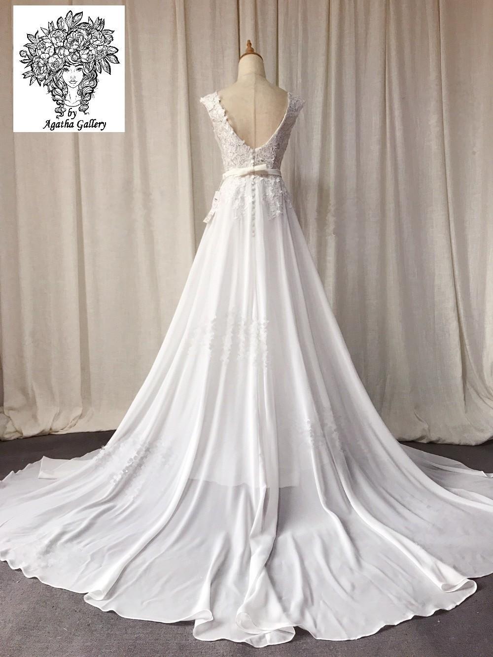 Dlhé svadobné šaty - EU 36/38 - Obrázok č. 3