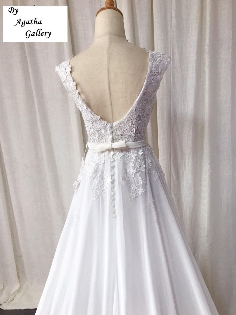 Dlhé svadobné šaty - EU 36/38 - Obrázok č. 4