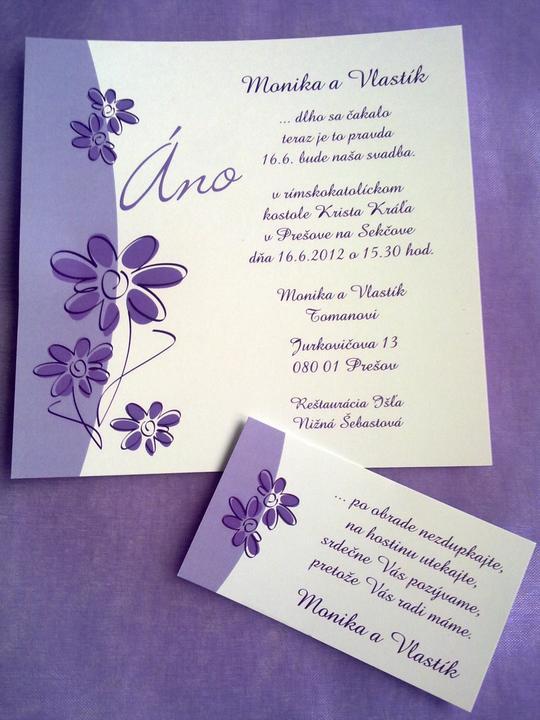 """""""prípravy na svadbu"""" - naše oznámenia s pozvánkou :)"""