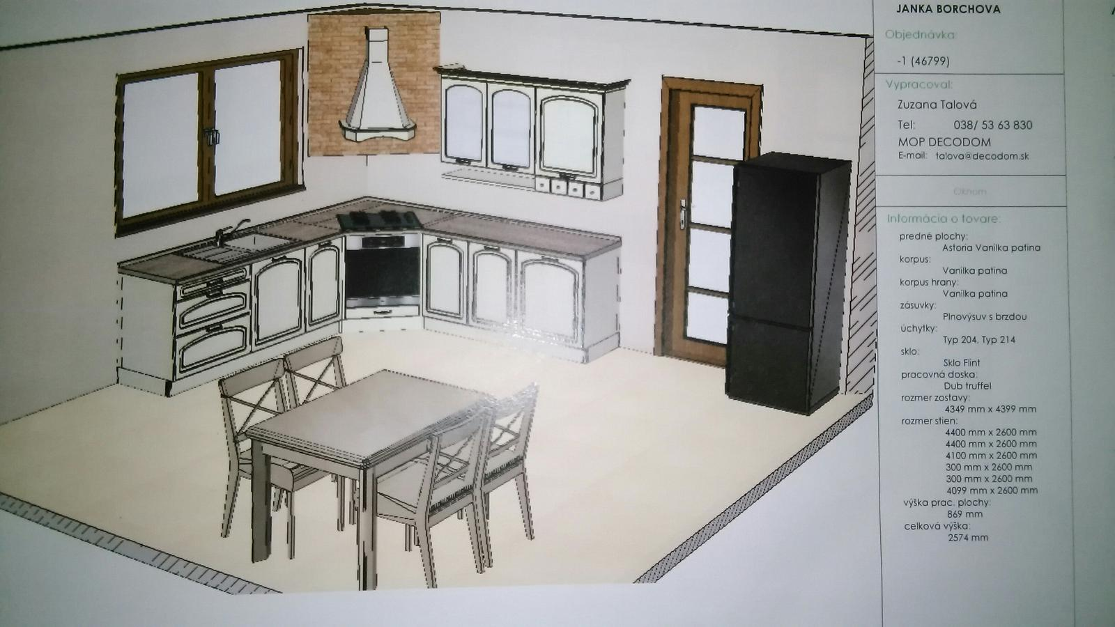 U nas DOMA   👪💟 - kuchyna navrhnuta :)