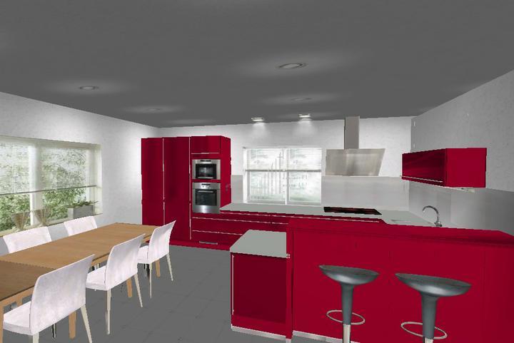 Zariadenie domu a inspiracie - varianta cerveny lesk
