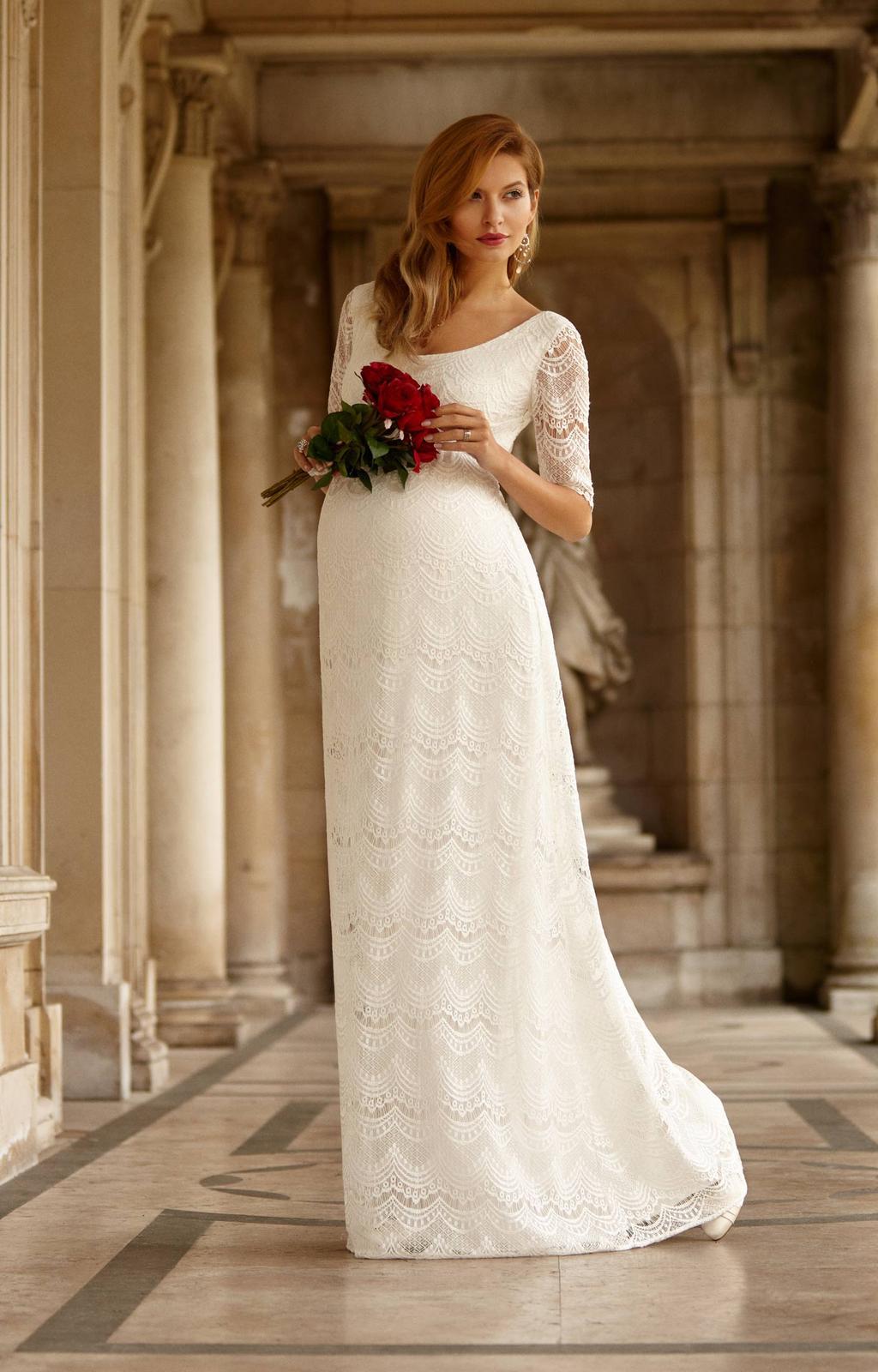 Těhotenské svatební šaty - Obrázek č. 10