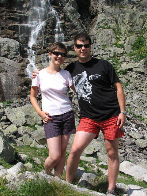 Katka a Peťo - na dovolenke ako inak v Tatrách - vodopád Skok