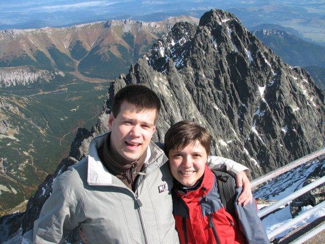 "Katka a Peťo - spolu na ""VRHOLE"" Lomnický štít 2007"