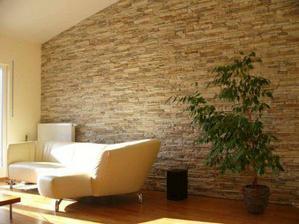 takto nějak bychom chtěli stěnu v obýváku a obložený bar
