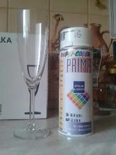 naše svadobné poháre a farba :) uvidíme, čo vyjde z tejto kombinácie :))