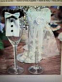 dekoracia na svadobne pohare zenich a nevesta,