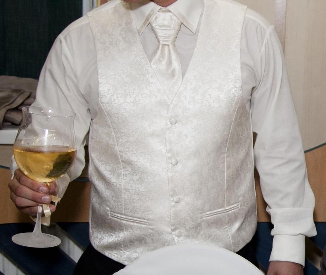 Svadobná vesta, francúzska kravata a košeľa  - Obrázok č. 1