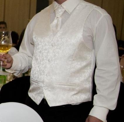 Svadobná vesta, francúzska kravata a košeľa  - Obrázok č. 2