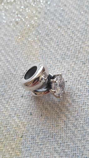 Strieborny privesok na Pandora naramok - Obrázok č. 1