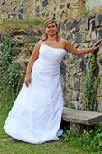 Svatební šaty pro plnoštíhlé N21, 46