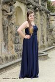 Dlouhé společenské šaty pro plnoštíhlé - půjčovné, 46