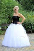 Plesové šaty bílé - půjčovné, 40