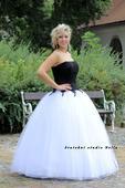 Plesové šaty bílé - půjčovné, 42