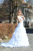 Svatební šaty s vlečkou N36, 34