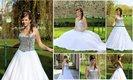 Plesové společenské šaty bílé, 38
