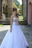 Plesové společenské šaty bílé, 40