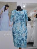 Půjčíme krátké společenské šaty tyrkysové, 46