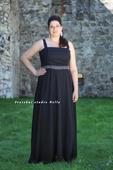 Půjčíme dlouhé společenské šaty černé, 46