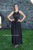Dlouhé společenské plesové šaty černé, 36