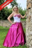 Výprodej - Plesové šaty růžové, 40