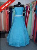 Výprodej - Plesové šaty pro boubelky tyrkysové, 54