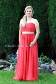 Dlouhé společenské plesové šaty červené, 40