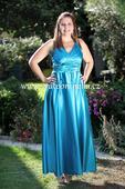Tyrkysové dlouhé společenské šaty, 40