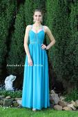 Tyrkysové dlouhé společenské šaty, 34