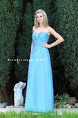 Výprodej - tyrkysové dlouhé společenské šaty , 36