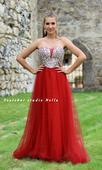 Plesové šaty červené - velikost 38/40,
