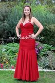 Plesové šaty červené - velikost 40-42, 40