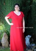 Plesové šaty červené - velikost 48, 48
