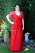 Plesové šaty červené - velikost 48/50, 48