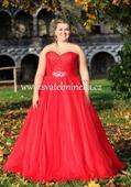 Plesové šaty červené - velikost 46, 46