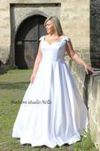 Svatební šaty OK14 pro plnoštíhlé, 46