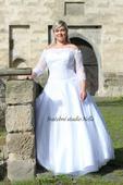 Svatební šaty OK15 pro plnoštíhlé, 48