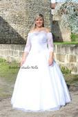 Svatební šaty OK15 pro plnoštíhlé, 46